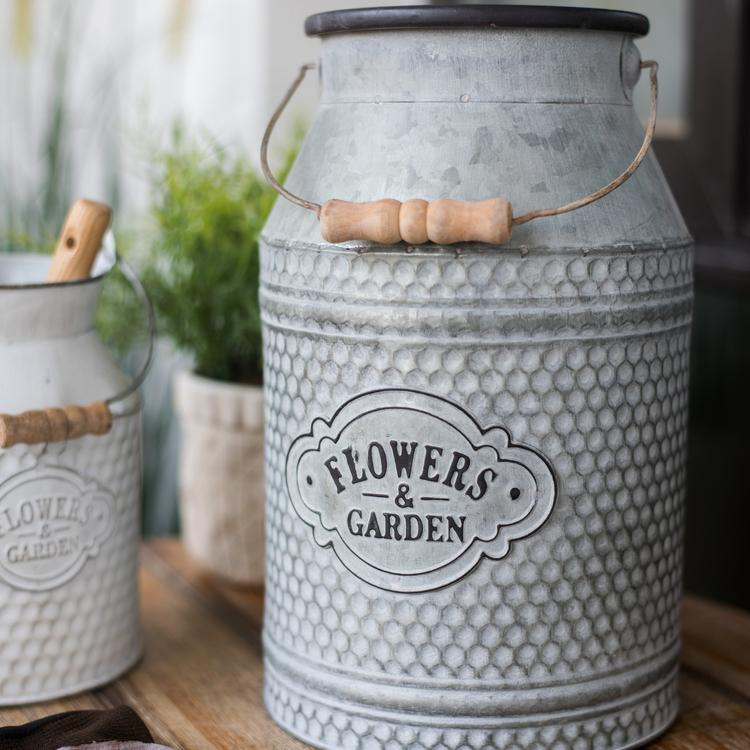 Iron Flower Garden Barrel RusticReach