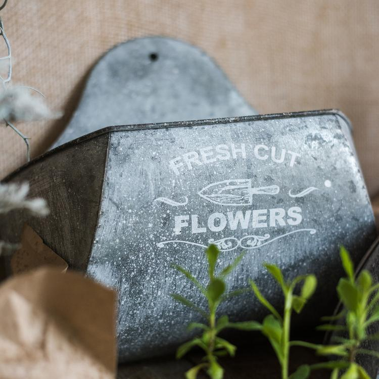Iron Flower Wall Planter RusticReach