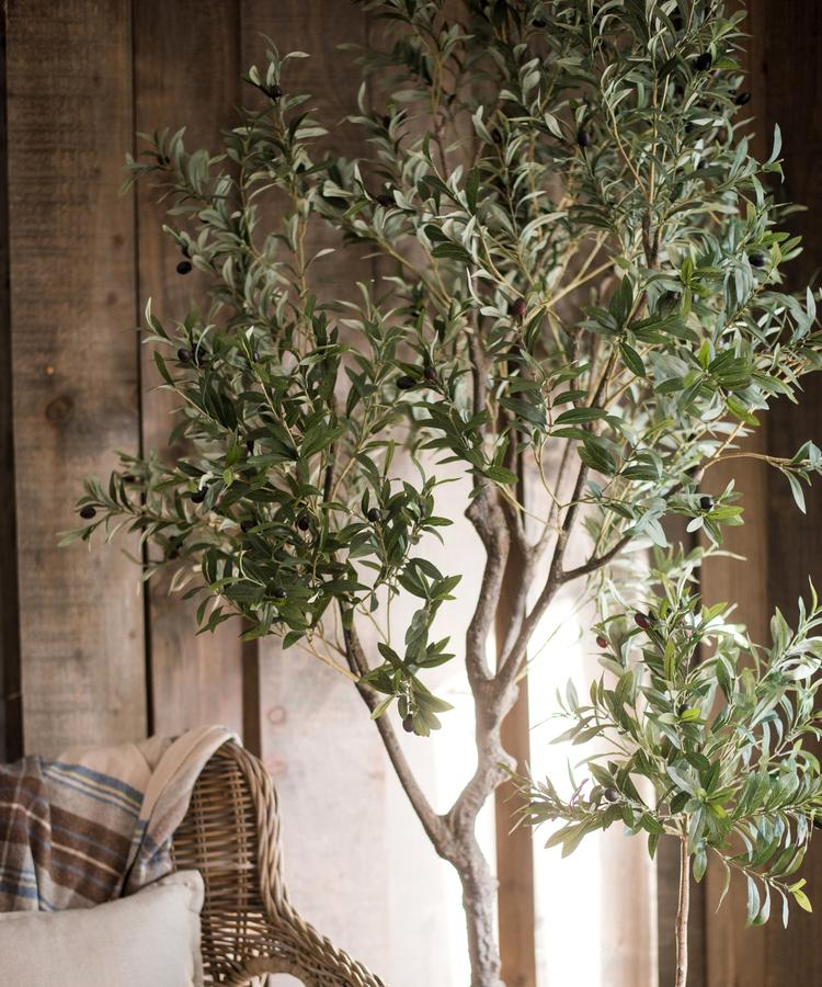 "Large Artificial Olive Tree 94"" Tall RusticReach"