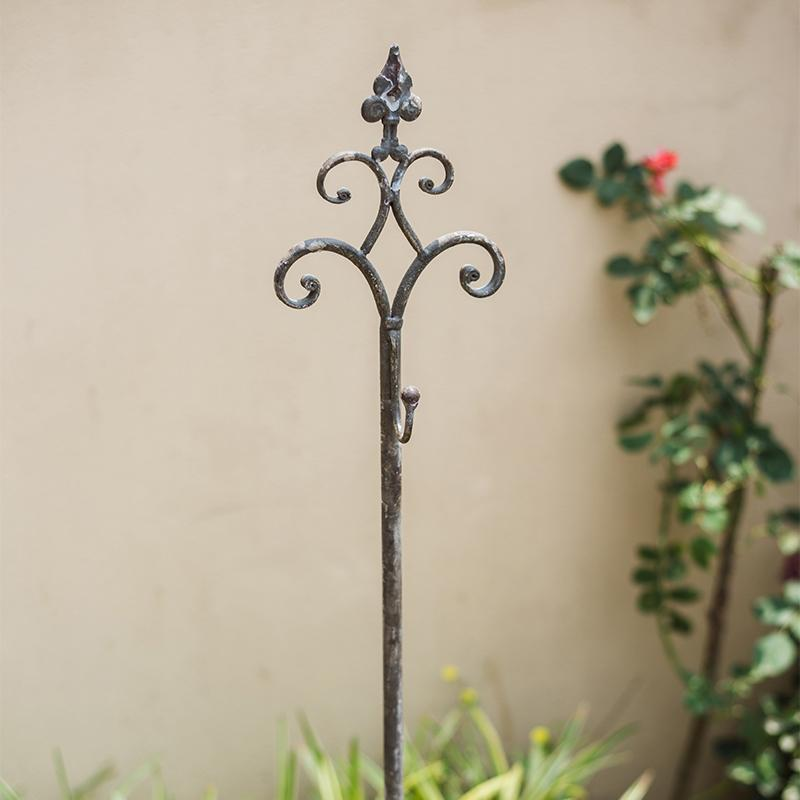 Metal Hanging Plant Stand with Hook Adjustable Height RusticReach