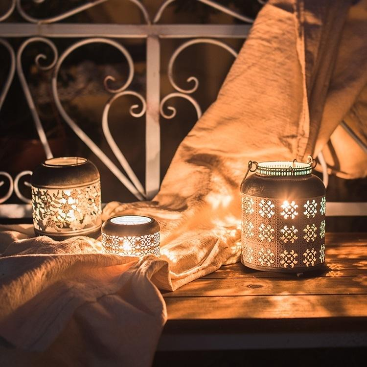 Metal Lantern Candle Holder RusticReach