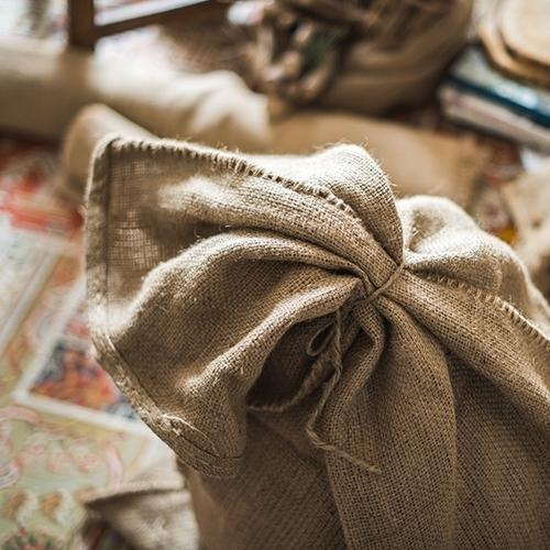 Natural Burlap Bag Set of 3 RusticReach