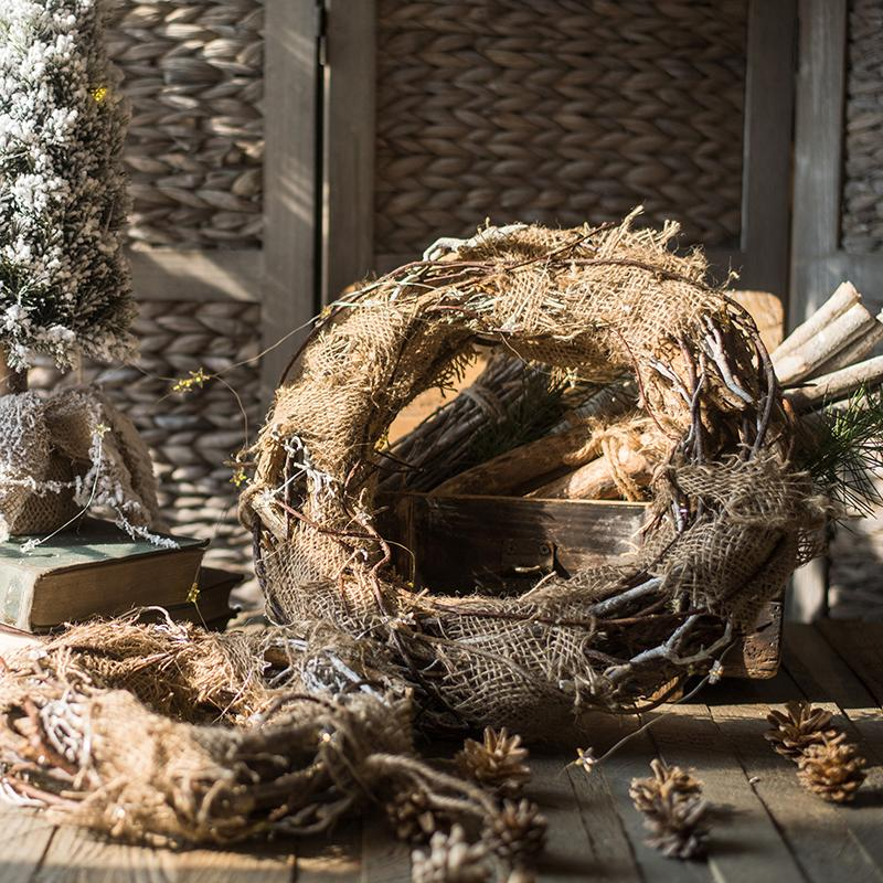 Natural Rattan and Willow Wreath RusticReach