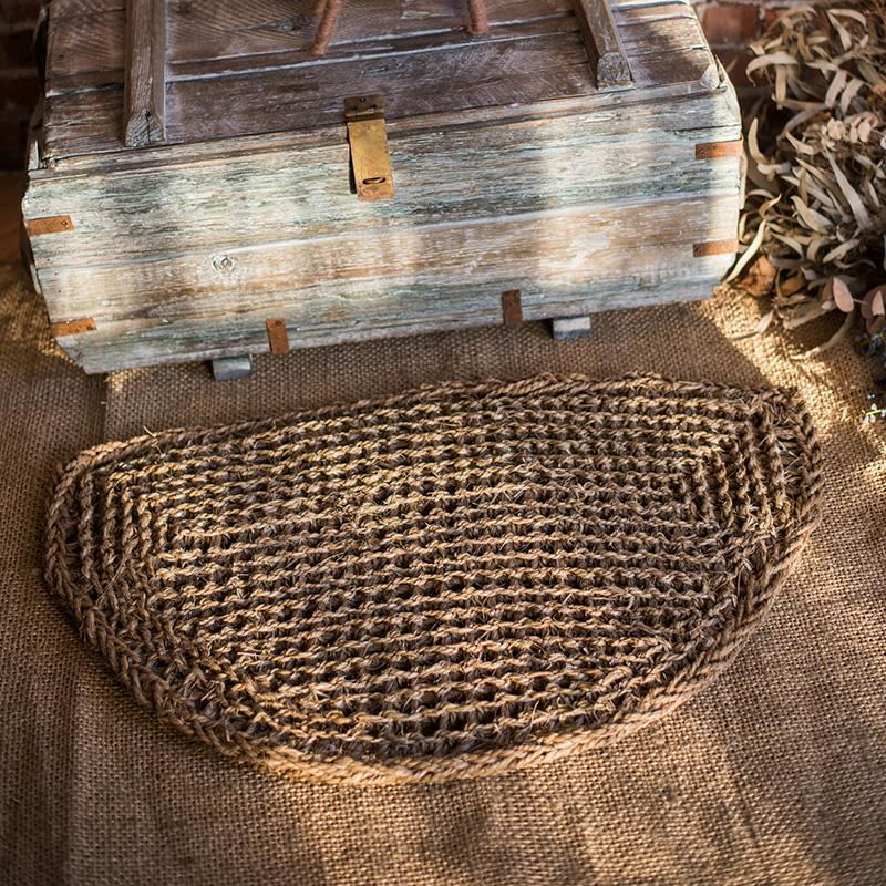 Organic Natural Straw Door Mat RusticReach