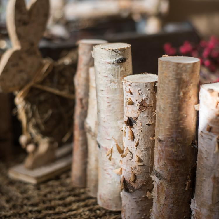Paper Birch Small Wood Fence Décor RusticReach