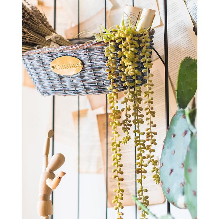 "Pearl Hanging Succulent Stem 26"" Long RusticReach"