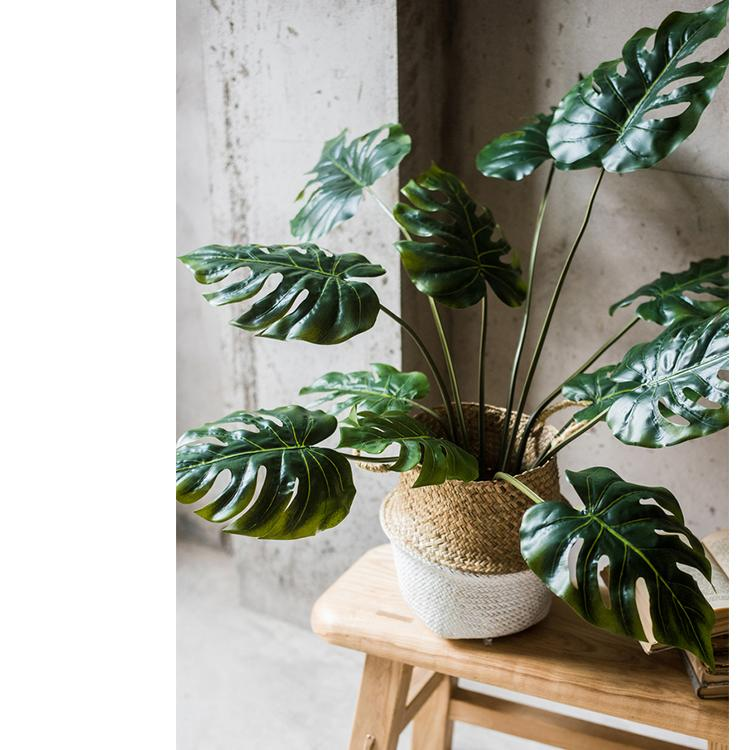 "Potted Plant Artificial Turtle Leaf Plant 31"" Tall RusticReach"