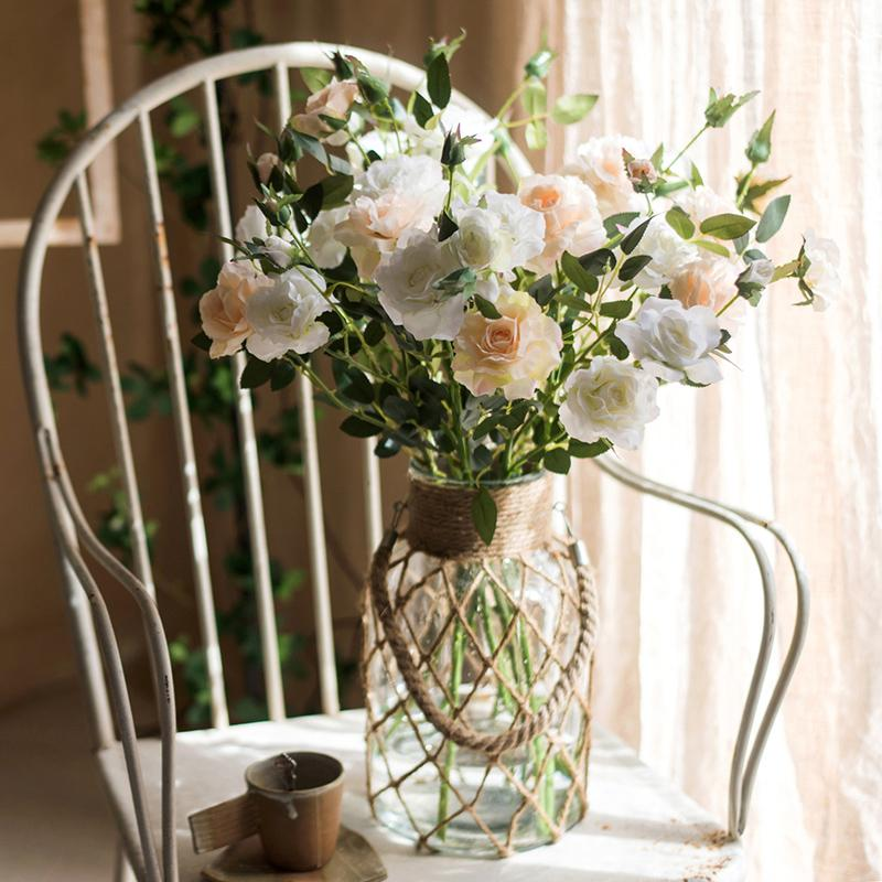Real Touch Blooming Rose Stem 25 Tall