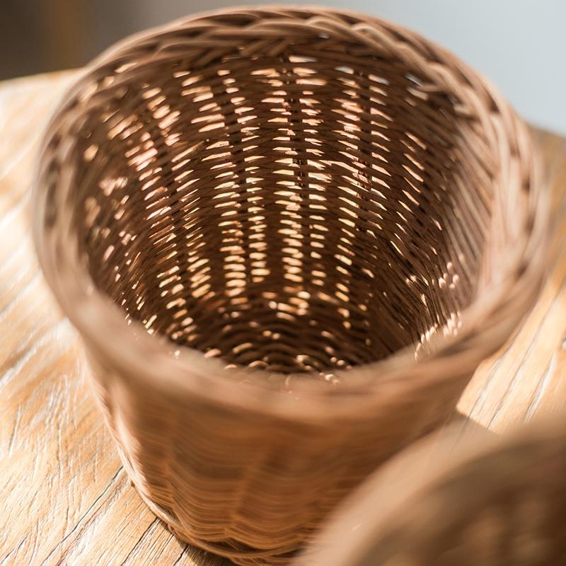 Round Rattan Basket RusticReach