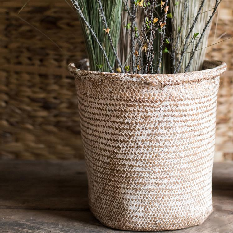 Round Straw Basket RusticReach