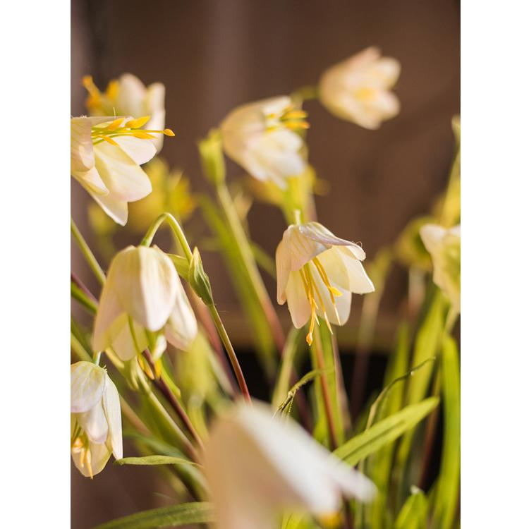 "Silk Fritillaries Lily Flower Stem 26"" Tall RusticReach"