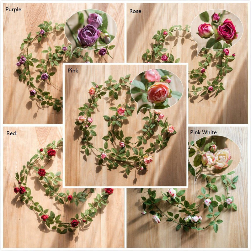 "Silk Rose Vine 57"" Long RusticReach"