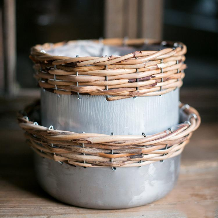 Silver Metal Willow Mixed Zakka Planter RusticReach