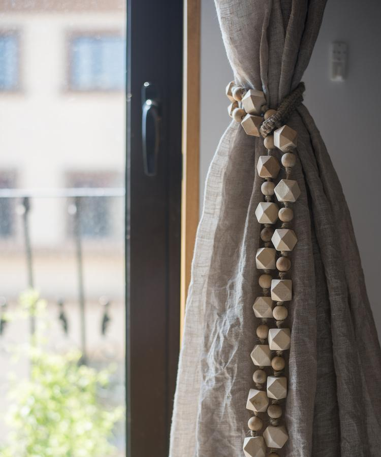 Solid Wood Handmade Rustic Curtain Tiebacks RusticReach