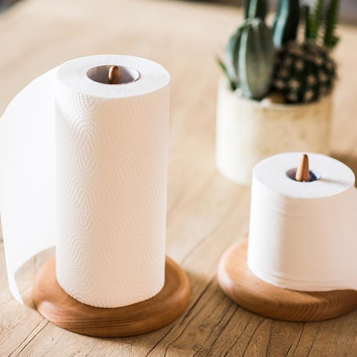 Solid Wood Paper Towel Holder RusticReach