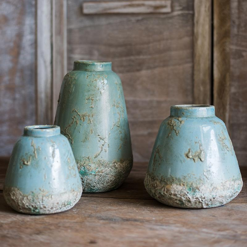 Turquoise Ceramic Vase RusticReach