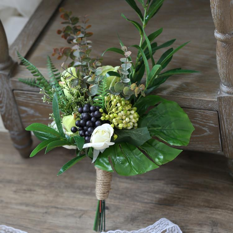 "Wedding Bouquet Rustic Country Berry Bridesmaid Bouquet 13.8"" Tall RusticReach"