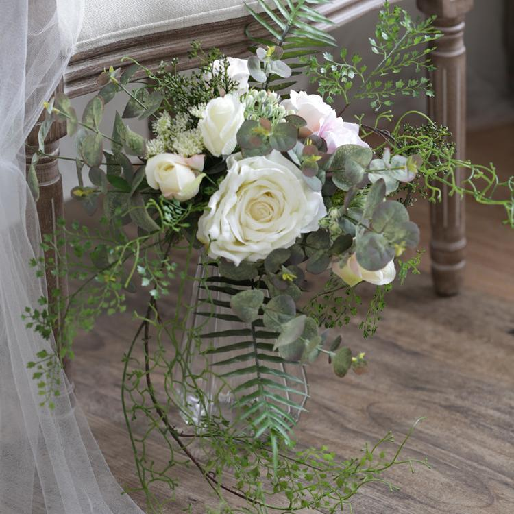 "Wedding Bouquet The Chic Bridal Bouquet 15.8"" Tall RusticReach"