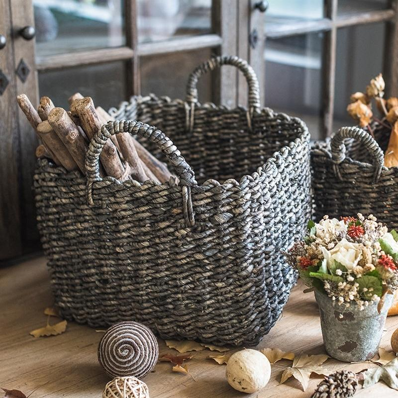 Willow Basket Organizer Basket Dark Brown RusticReach