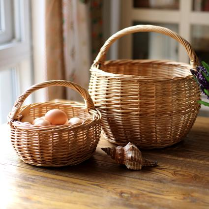 Willow Basket with Handle RusticReach