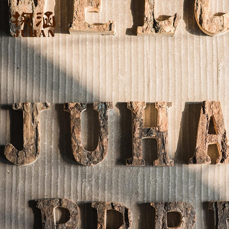 Wooden Alphabet Letter RusticReach