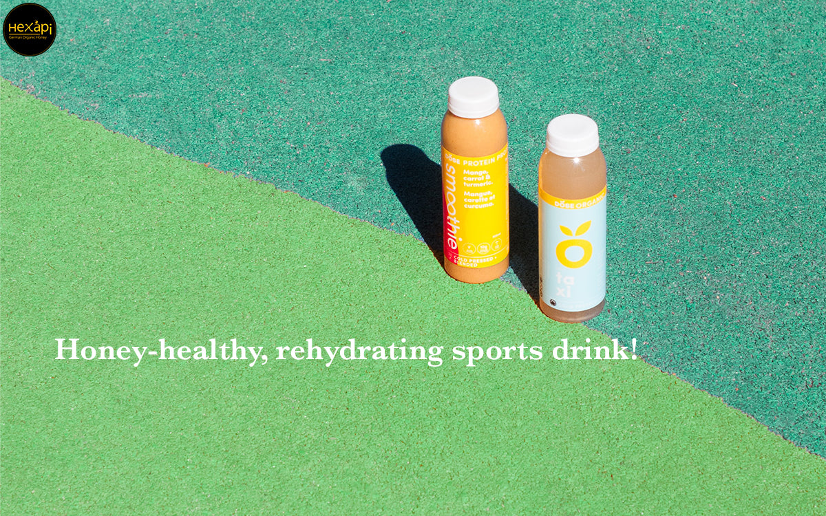 Honey-healthy, re-hydrating sports drink!