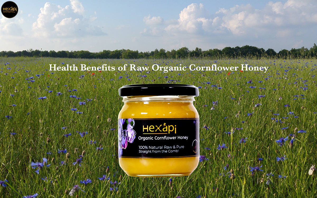 Health Benefits of Hexapi Raw Organic Cornflower Honey