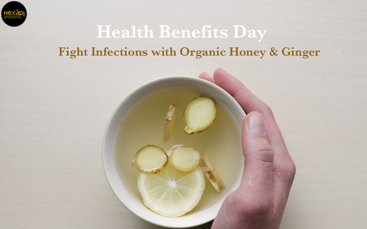 Fight Infections with German Organic Honey & Ginger