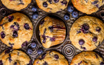 Greek Yogurt and Blueberry Honey Muffins