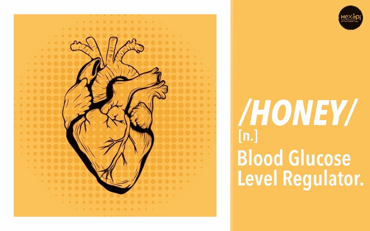 Blood Glucose Level Regulator | Hexapi Organic Raw Honey