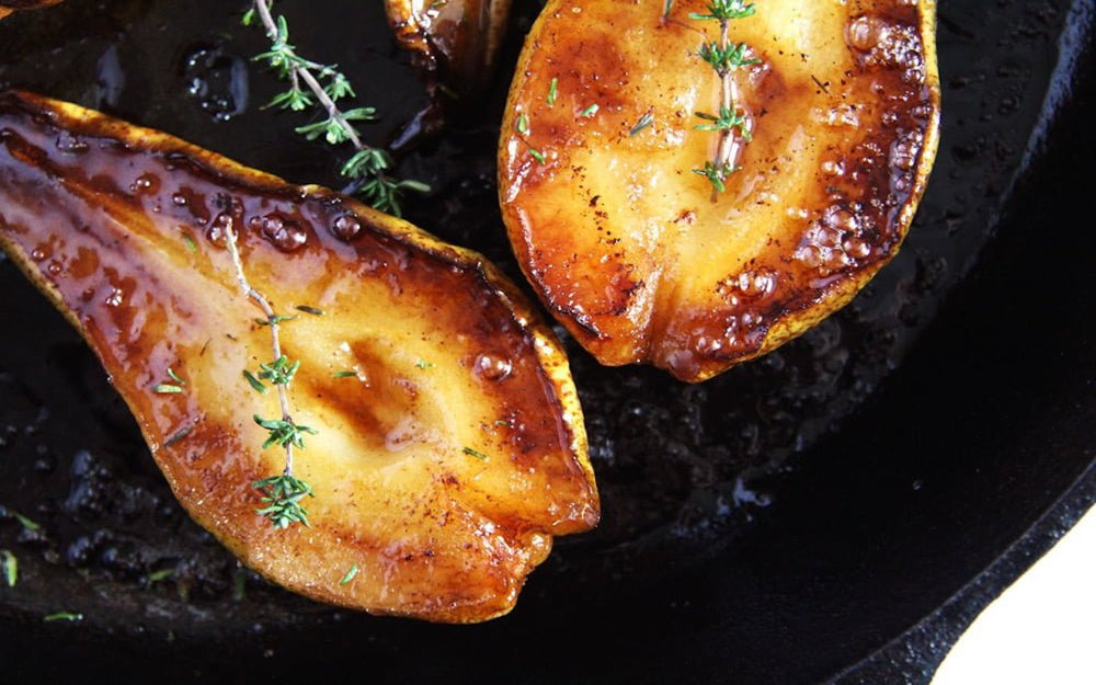 Roasted Pears with Organic Chestnut Honey