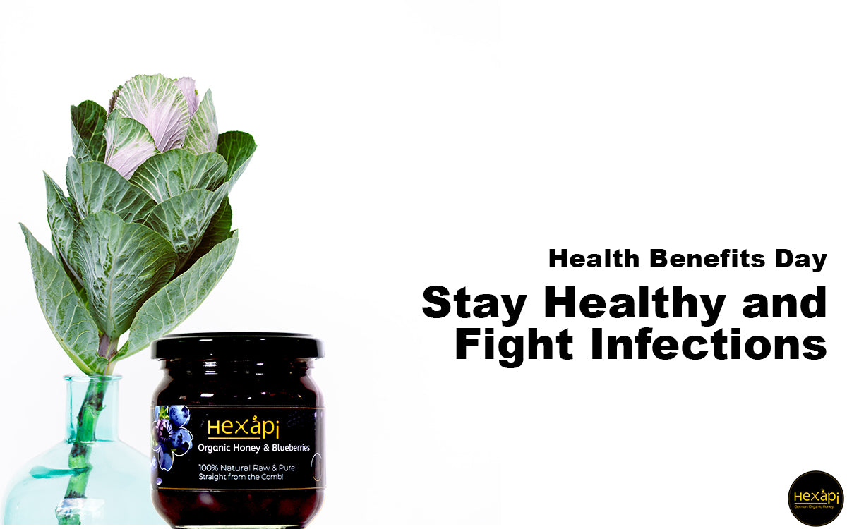 Stay Healthy and Fight Infections with Organic Honey & Blueberries
