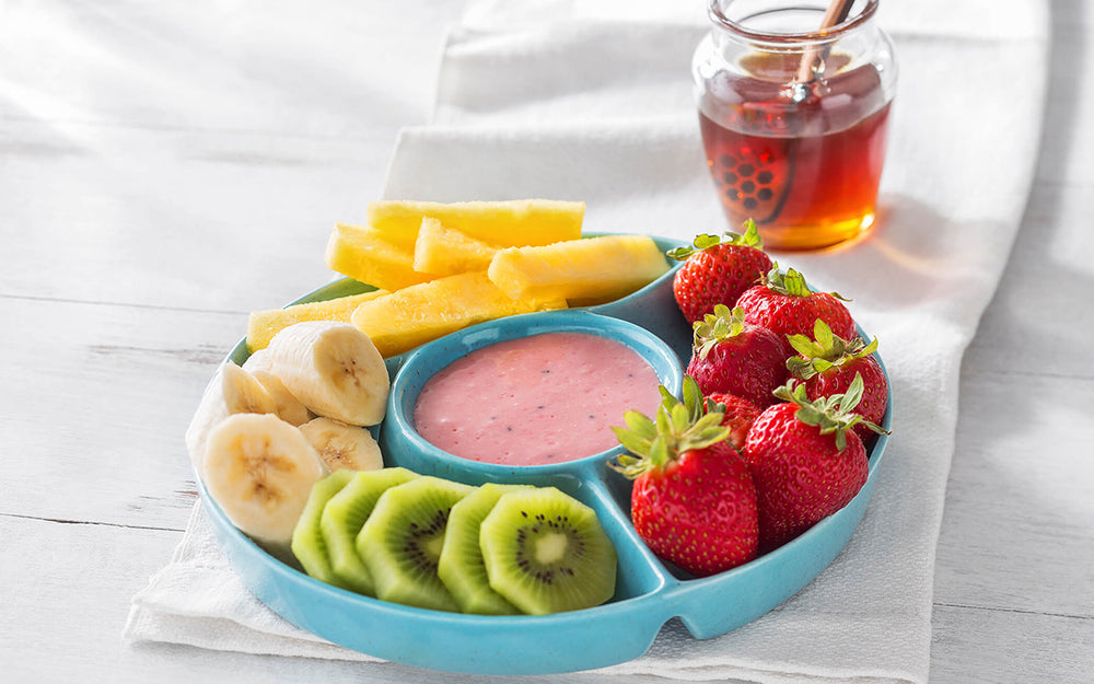 Kiwi Raspberry Honey Fruit Dip
