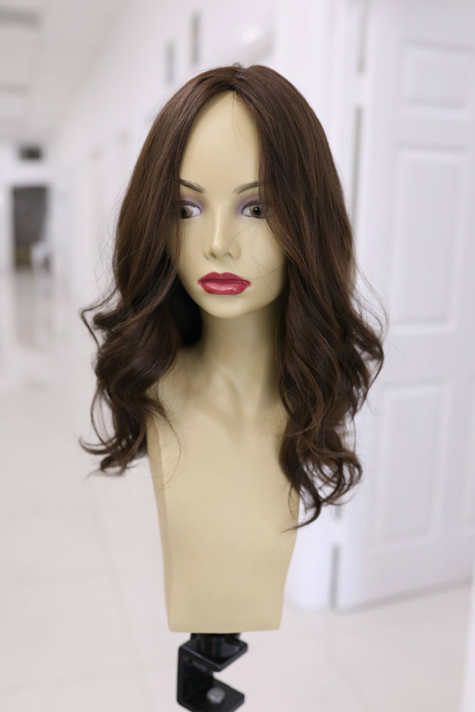 Yaffa Wigs Finest Quality Long Brown Dream Wigs 100% Human Hair