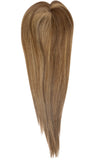 Yaffa Wigs Finest Quality Long Brown W/Highlights  Mito Topper 100% Human Hair