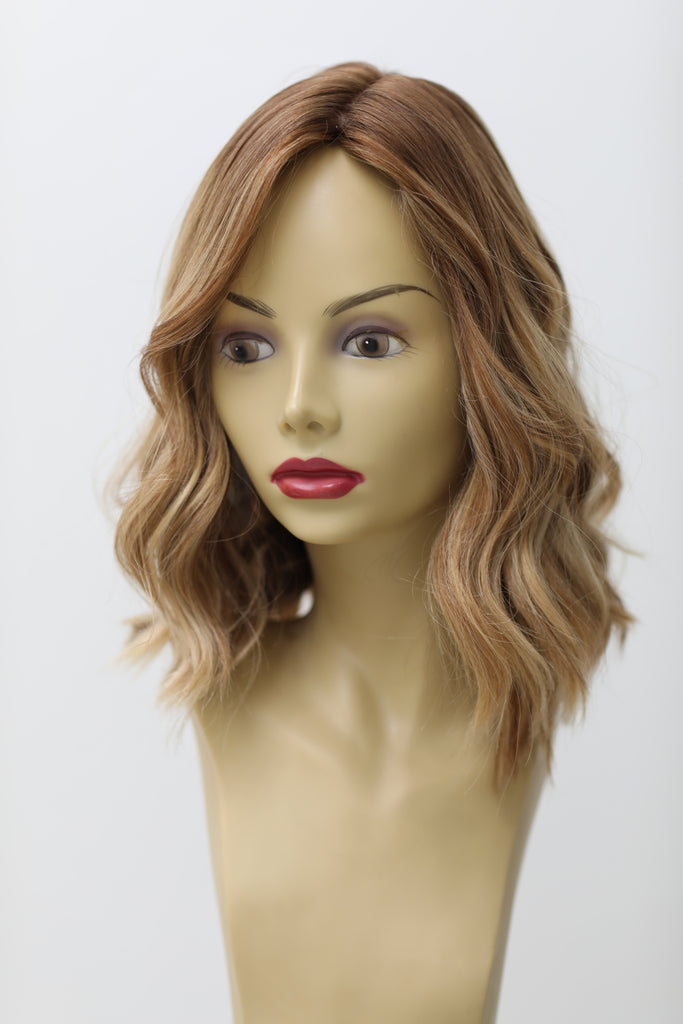 Yaffa Wigs Finest Quality Short Hair Light Brown W/Highlights 100% Virgin Human European Hair