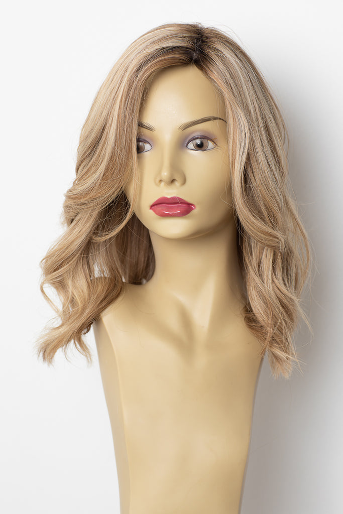 Yaffa Wigs Finest Quality Blonde W/Roots Medium 100% Virgin Human Hair