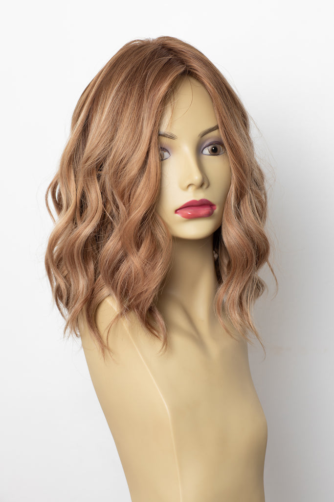 Yaffa Wigs Finest Quality Short Honey Blond W/Roots Dream Wigs 100% Human Hair