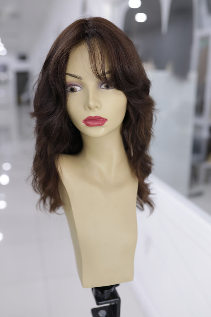 Yaffa Wigs Finest Quality Long Naturally Wavy 100% Human Hair