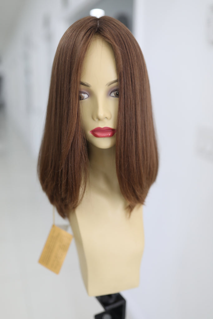 Yaffa Wigs Finest Quality Short Hair Light Brown 100% Virgin Human European Hair
