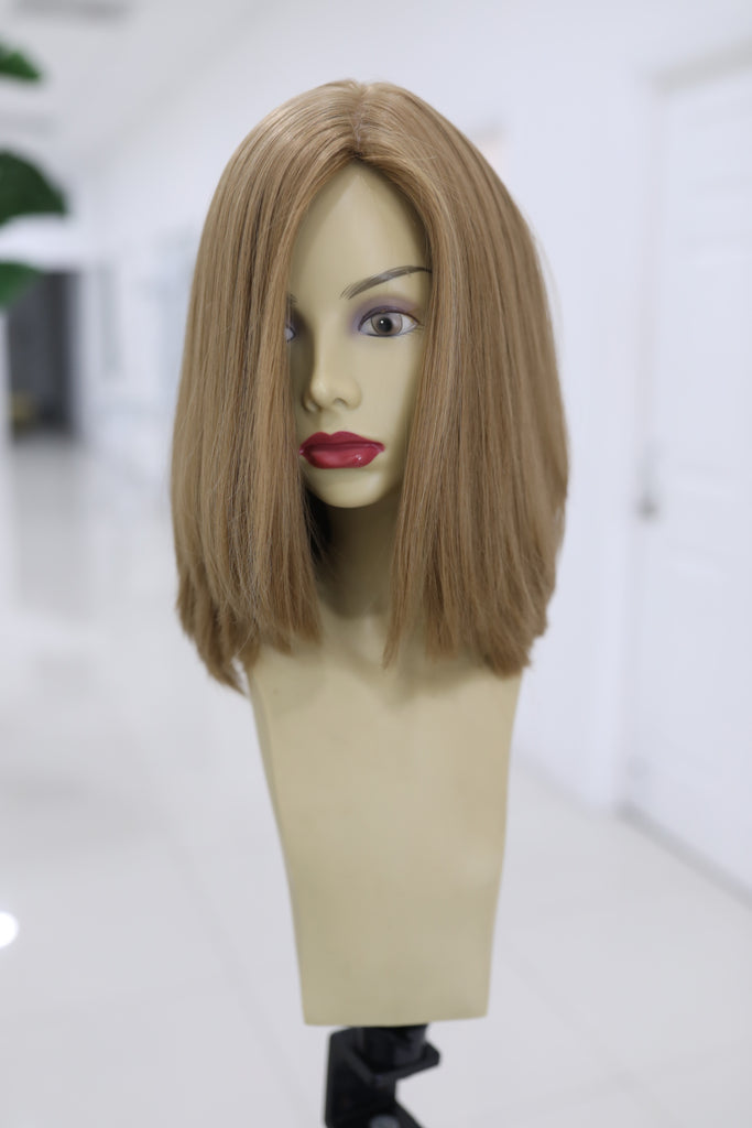 Yaffa Wigs Finest Quality Short Hair Dark Blond 100% Virgin Human European Hair