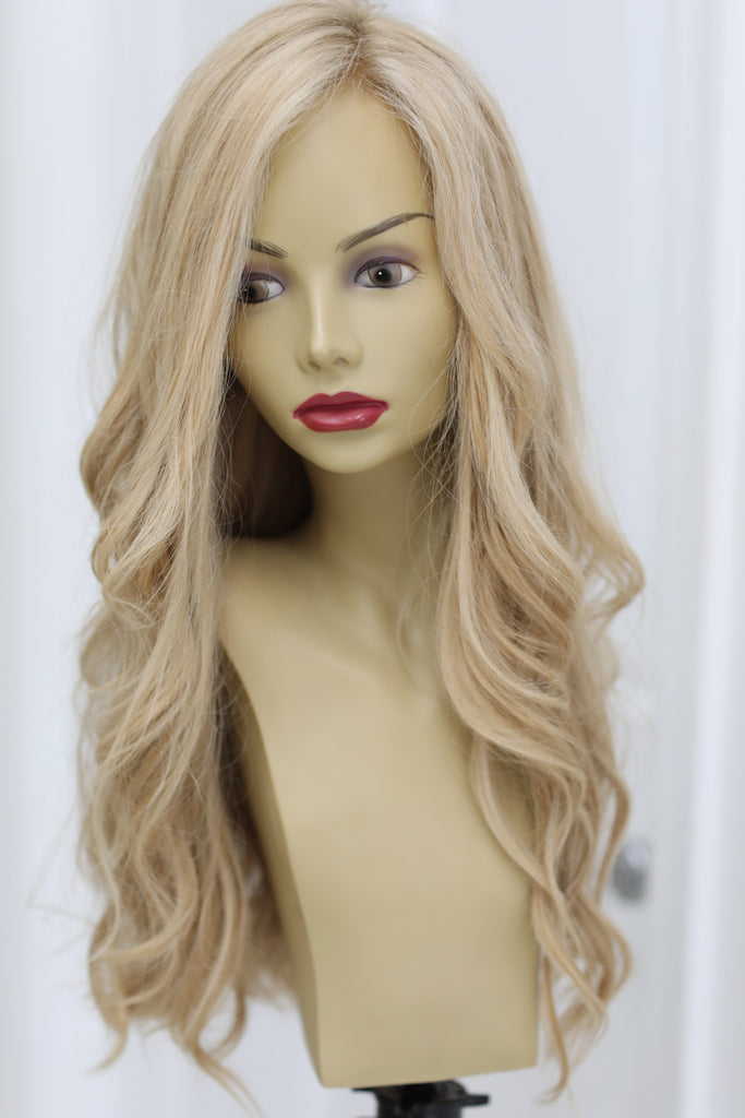 Yaffa Wigs Finest Quality Long Light Vanilla Blond 100%European Virgin Human Hair