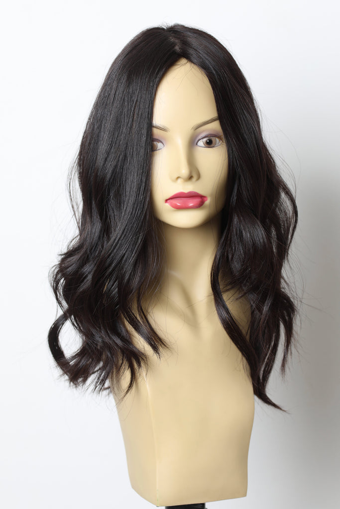 Yaffa Wigs Finest Quality Dark Brown Medium Hair 100% Virgin European Human Hair