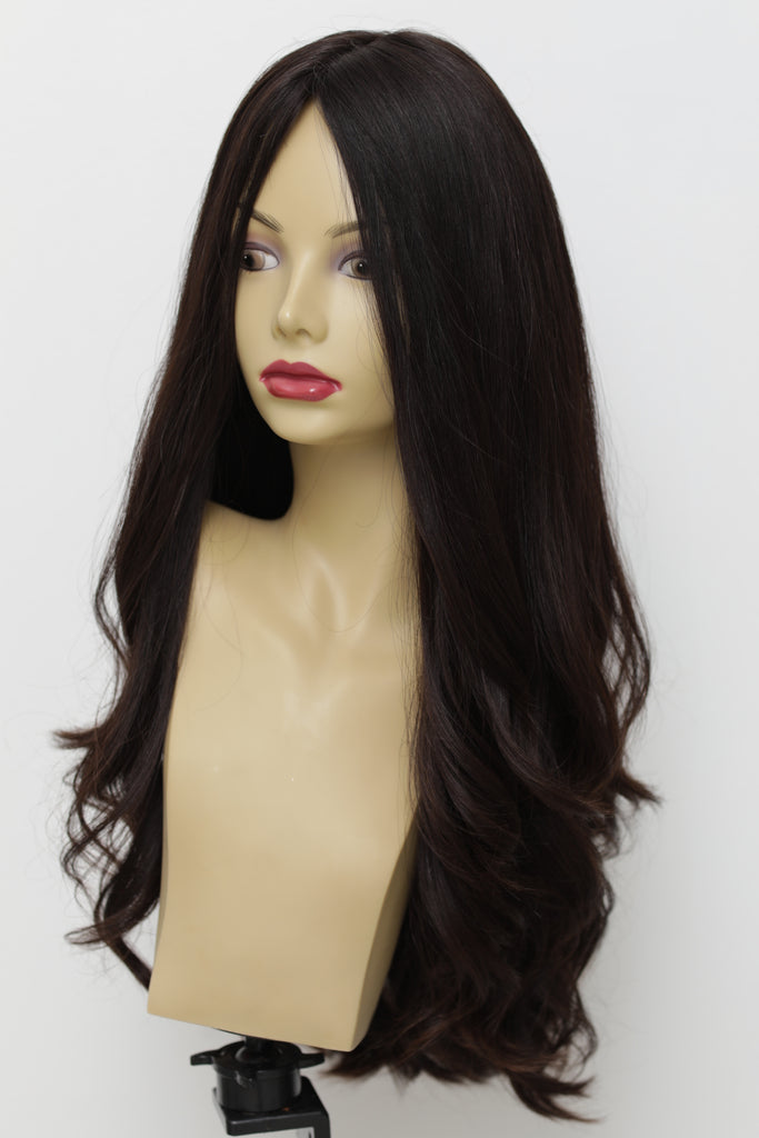 Yaffa Wigs Finest Quality Long Hair Dark Brown XL 100% Virgin Human European Hair