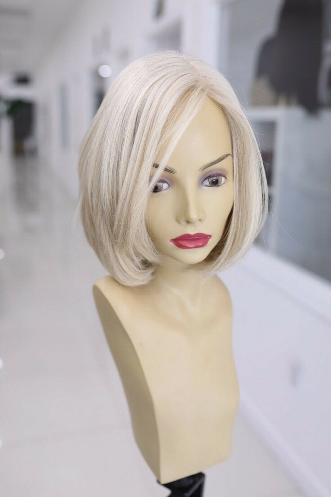 Yaffa Wigs Finest Quality Short Platinum Blond 100%European Virgin Human Hair