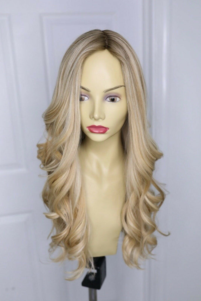 "YAFFA WIGS GOLD LABEL VIRGIN EUROPEAN HUMAN HAIR 25"" LONG 18""LLYR-3"