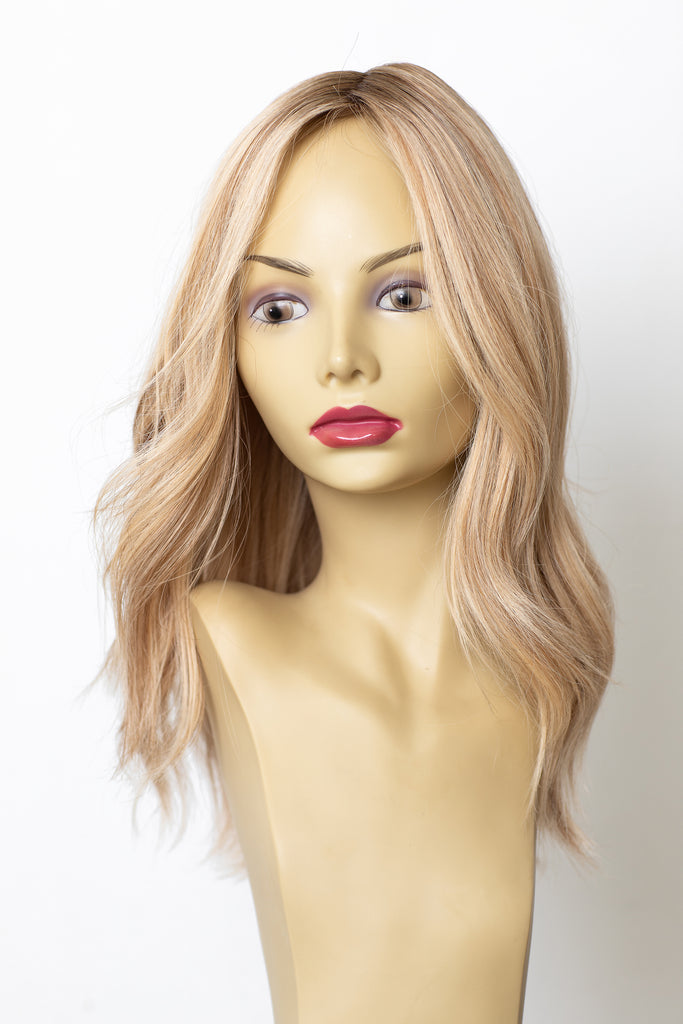 Yaffa Wigs Finest Quality Long Blond W/ Darker Roots  100% Human Hair
