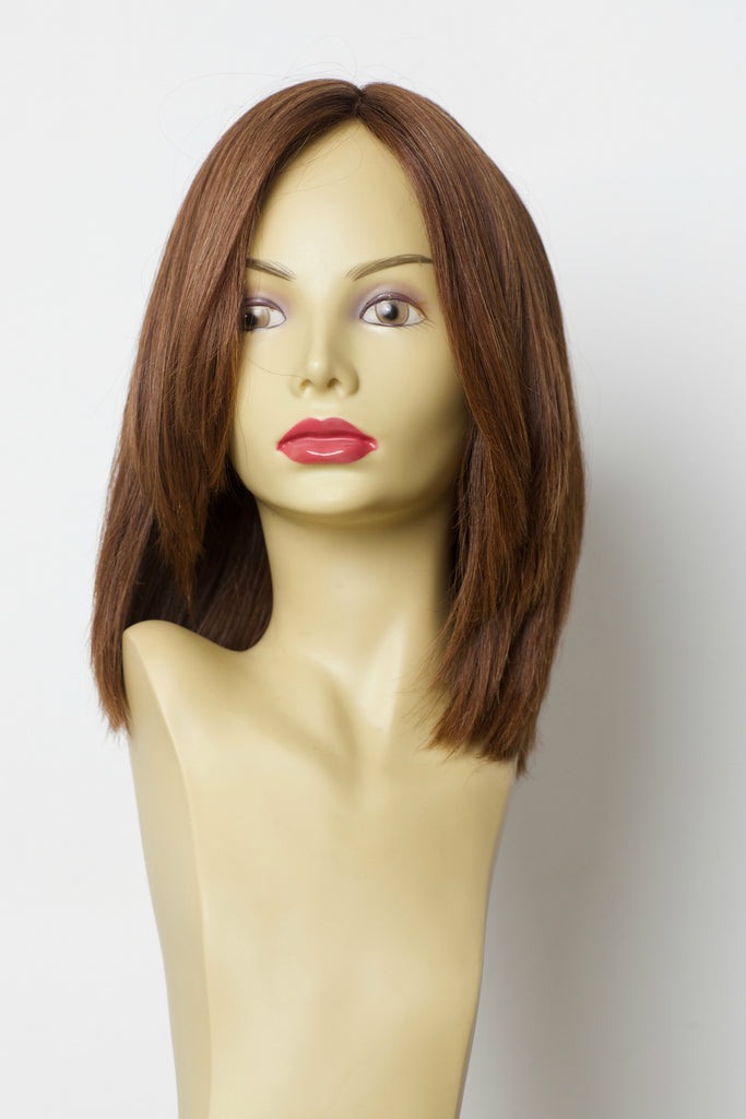 Yaffa Wigs Finest Quality Short Dark Red 100% Virgin Human European Hair