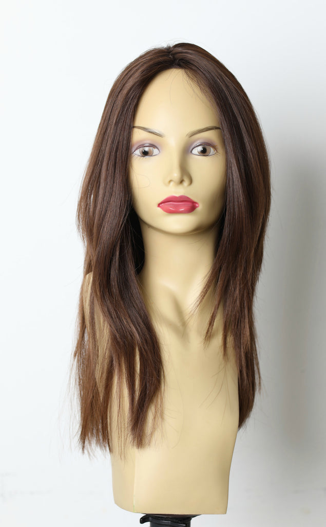 Yaffa Wigs Finest Quality Dark Brown Straight 100%Virgin Human European Hair