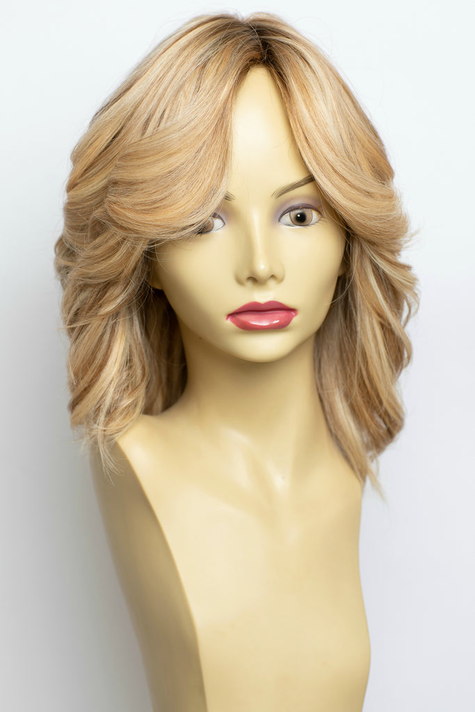 Yaffa Wigs Finest Quality Blonde With Highlights  100% Virgin Human European Hair